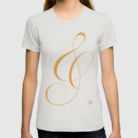 Nautica's Ampersand Womens Fitted Tee Silver SMALL