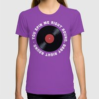 You Spin Me Right Round,… Womens Fitted Tee Ultraviolet SMALL