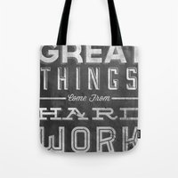Great Things in Chalk Tote Bag