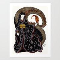 NU KUA - Chinesse Goddes… Art Print