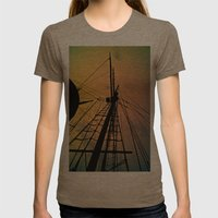 We Sail at Dawn Womens Fitted Tee Tri-Coffee SMALL