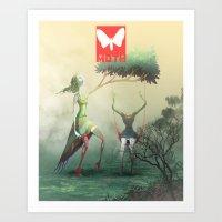Moth Tx Art Print