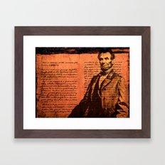 Abraham Lincoln and the Gettysburg Address Framed Art Print