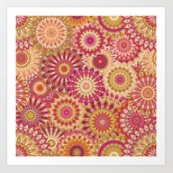 Mandala 157 (Floral) Art Print