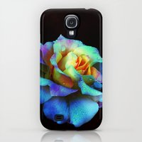 Galaxy S4 Cases featuring Pastel Rainbow Rose by minx267