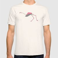 Running Flamingo Mens Fitted Tee Natural SMALL