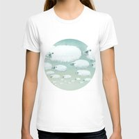 Cloudy Sheep Womens Fitted Tee White SMALL