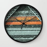 ROOF PATTERNS Wall Clock