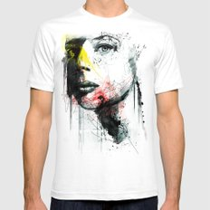 her name is nina Mens Fitted Tee White SMALL