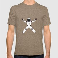 Spaceman Mens Fitted Tee Tri-Coffee SMALL