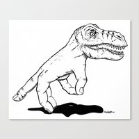 Handosaurus Rex Canvas Print