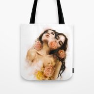 Tote Bag featuring Rose by Charmaine Olivia