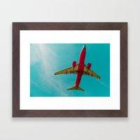 Landing to the Southwest Framed Art Print