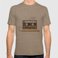 Old School Relationship Mens Fitted Tee Tri-Coffee SMALL
