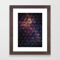 Heroine Pattern Framed Art Print
