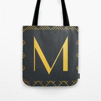 Art Deco Monogram - M Tote Bag