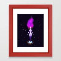 Universe God Framed Art Print