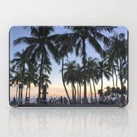 Sunset On Waikiki iPad Case