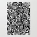 Drawing Floral Zentangle G6 Canvas Print