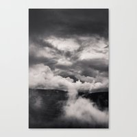 Within A Storm - Black A… Canvas Print