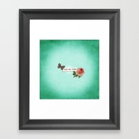 Just For Today No.1 Framed Art Print