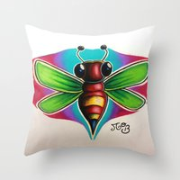 Bee Bumble Throw Pillow