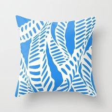 Al Peas: Blue Ivory Throw Pillow