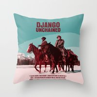 Django Unchained Movie Poster  Throw Pillow