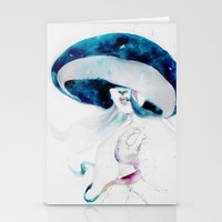 jellyfish Stationery Cards featuring jellyfish by Leilalilium