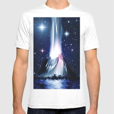Eruption. SMALL White Mens Fitted Tee