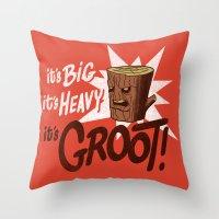 It's Groot Throw Pillow