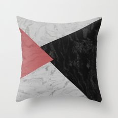 MARBLE TRIANGULES Throw Pillow