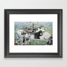 The madness of war Framed Art Print