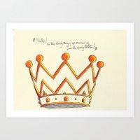 Crowns & Gin Art Print