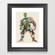 Dont Make Him Angry Framed Art Print