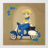 Retro Sailor Uranus Canvas Print