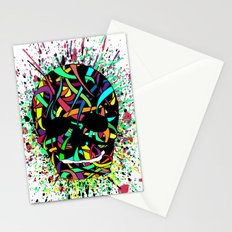 COLOUR SKULL  Stationery Cards