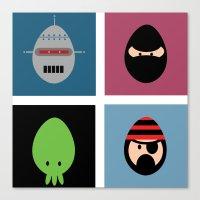 Robot Ninja Cthulhu Pirate Canvas Print