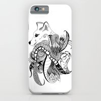 iPhone & iPod Case featuring Inking Fox and Bird by Alexis Kadonsky