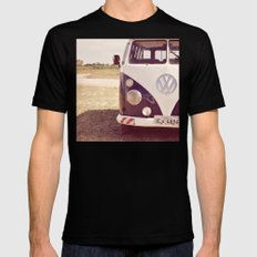 Campervan Black SMALL Mens Fitted Tee