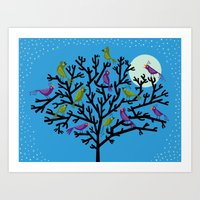 The Night Birds Art Print