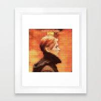 Bowie : Low Pixel Album … Framed Art Print