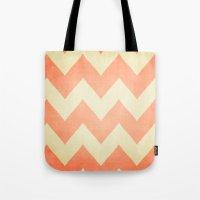 Fuzzy Navel - Peach Chev… Tote Bag