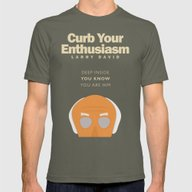 Curb Your Enthusiasm - H… Mens Fitted Tee Lieutenant SMALL