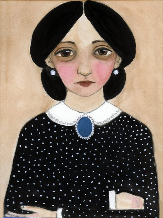 Miss Ruth, Victorian Lady Portrait Art Print