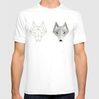 Wolfborg Mens Fitted Tee White SMALL