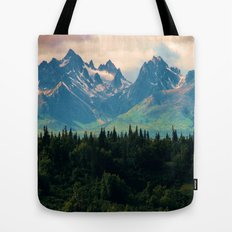 Escaping from woodland heights Tote Bag