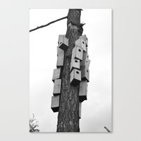 cozy neighborhood Canvas Print