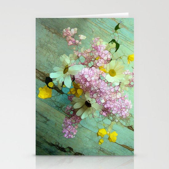 country flowers Stationery Card