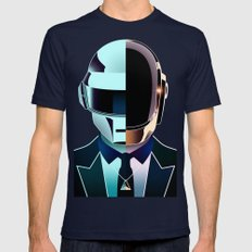 DAFT PUNK Mens Fitted Tee Navy SMALL